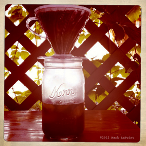 Pour-over iced coffee