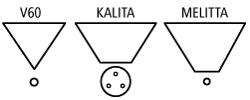 coffee dripper shapes